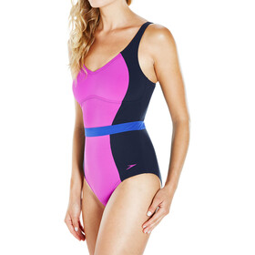 speedo Sculpture CrystalGleam 1 Piece Swimsuit Women Navy/Diva/Ultramarine